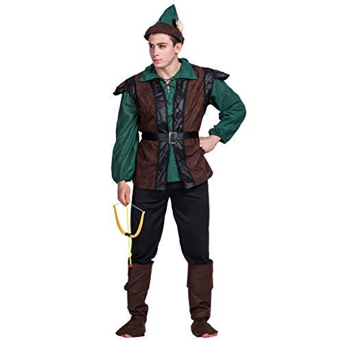 EraSpooky Robin Hood Uomo Costume Halloween Pettirosso Cappuccio