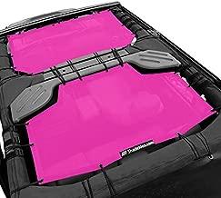 Shadeidea Sun Shade for Jeep Wrangler JK Unlimited (2007-2018) 4 Door (Pink) Mesh Screen Sunshade JKU Top Cover UV Blocker with Grab Bag - 10 years Warranty