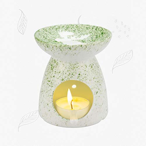 RMENOOR Aromalampe Teelichthalter Duftlampe aus Keramik Duft öl Lampe mit Candle Löffel Hitzebeständigkeit Aroma Diffuser Aromalampen Dekoration Ölbrenner für Duftöl und Duftwachs