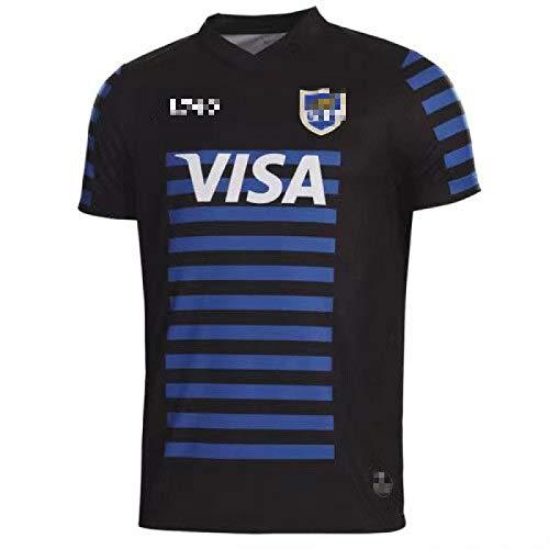 Rugby-Trikots, Argentinisches Heimtrikot 2020-2021 und Auswärtstrikot, schnell trocknender Sport-Kurzarm für Herren XL B