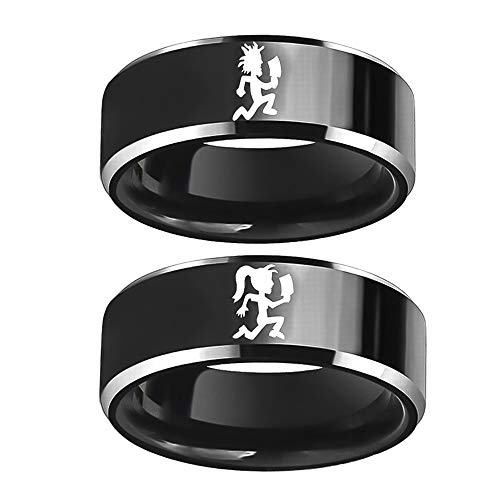 Sping Jewelry His and Hers Hatchet Man Women Ring ICP Insane Clown Posse Twiztid Rare Juggalo Street Style Black Kitchen Knife Band