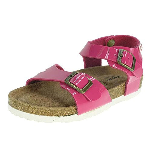 Las niñas Sandalias tamaño 11121312, Color Rosa Fucsia Playa Verano UK Toddler Kids Zapatos Beppi