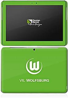 DeinDesign Samsung Galaxy Tab 2 10.1 Folie Skin Sticker aus Vinyl-Folie Aufkleber VFL Wolfsburg Fanartikel Fußball