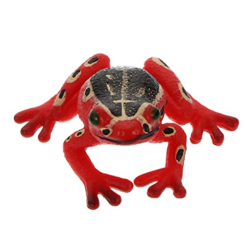 TOYANDONA Animal Tree Frog Model Figures Figurine Party Favors Supplies Cake Toppers Set Educational Toys for Boys Girls Kid Toddlers Red