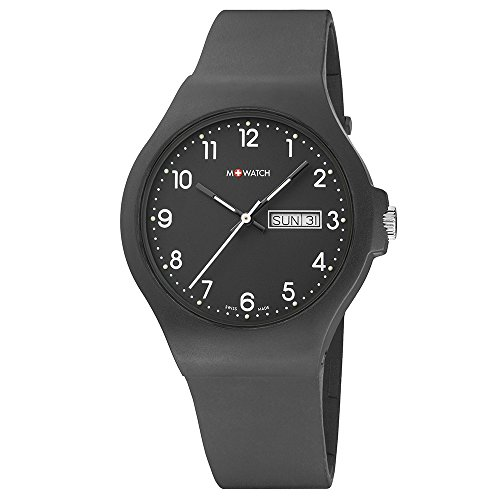 M WATCH Swiss Made Maxi Orologio da uomo/donna, Quadrante nero con...
