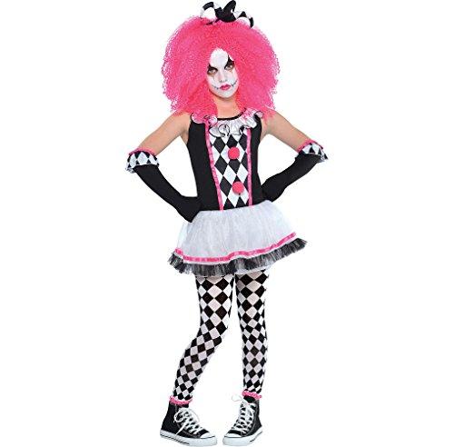 Mädchen Circus Bonbon Teen Kinder Clown Kostüm - 8-10 Jahre