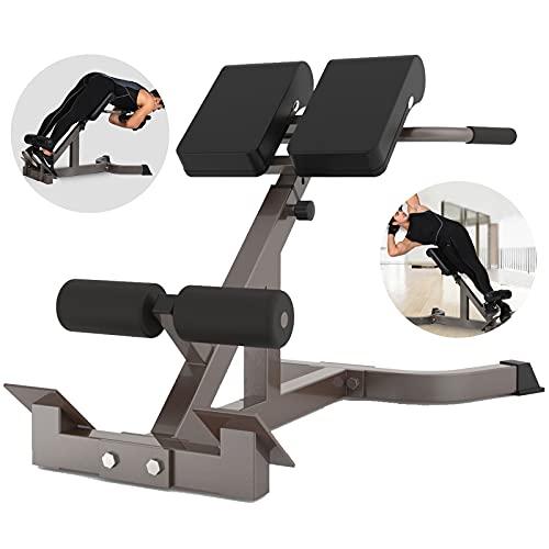 QAQZ Adjustable Weight Bench, Back Hyper Extension Roman Chair,...