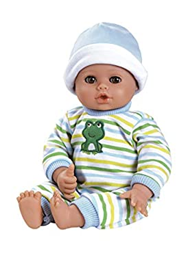 Adora PlayTime Baby Boy Doll, Little Prince, Washable Toy Doll with Soft Weighted Body and Eyes that Open and Close, Comes with Bottle, 13-inches