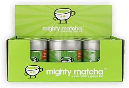 MIGHTY MATCHA Award Winning Organic Matcha Green Tea Powder - Vegan Ceremonial Matcha Green Tea Powder - Unsweetened Matcha Powder - Tin Can - Pack of 3 x 30g