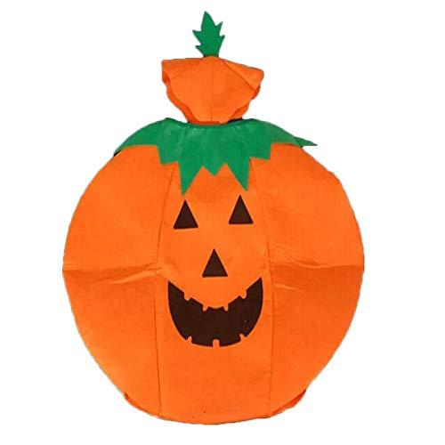 Calabaza Disfraz de Halloween Traje de Cosplay Vestido de calabaza Sombrero de calabaza Disfraz de Halloween Mameluco de calabaza Trajes Cosplay para niños Fiesta de adultos Disfraces Vestir Naranja