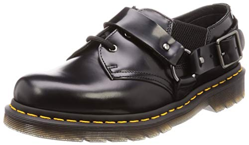 Dr. Martens Men's Fulmar 3 Eye Lace Up Shoes, Black Polished Smooth, 8-8.5 Medium US