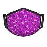 Neoqwez Sighthounds Pink Small Face Cover Erwachsenen Staub- und schmutzabweisende...