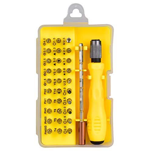Preisvergleich Produktbild 32 in 1 Präzisions-Schraubendreher-Bit-Set mit Etui,  Feinmechaniker Set,  Präzisionsschraubendreher Set Magnetschraubendreher-Kit für iPhone,  Laptop,  Tablet,  Uhren,  Kamera,  usw