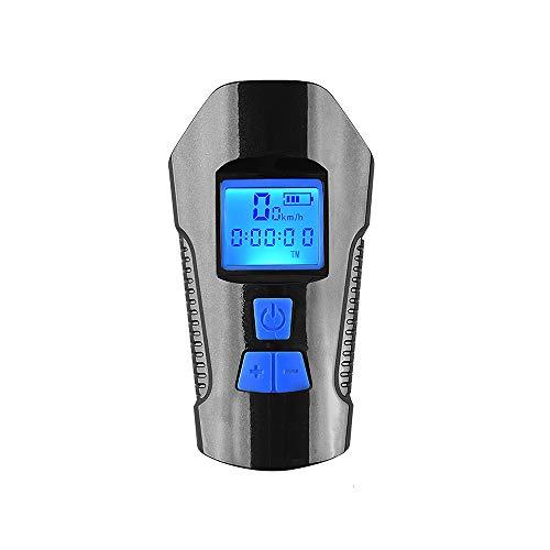 YChoice365 Fahrradbeleuchtung, Superhelle Taschenlampe für Fahrräder vorne, LED-Anzeige Wasserdichter Mountainbike-Scheinwerfer mit Horn-Codetabelle, wiederaufladbar