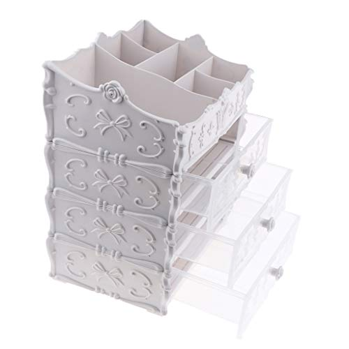 #N/a Caja de Almacenamiento de Escritorio Multiusos Organizador Estuche de Maquillaje Plástico...