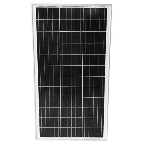 Polykristalline Photovoltaik Solarmodul 100 W - inkl. MC4 Ladekabel, 17 18 V für 12 v Batterien, Setwahl - Solarpanel, Solarzelle, Solarladegerät, Solaranlage für Wohnwagen, Camping (1 x 100W (100W))