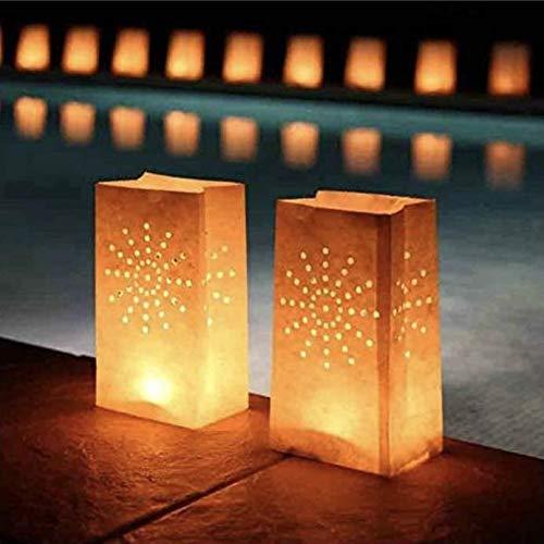 EUTOPICA Bolsas De Luz para Velas | Pack 30 u. | #BrillaLaNoche