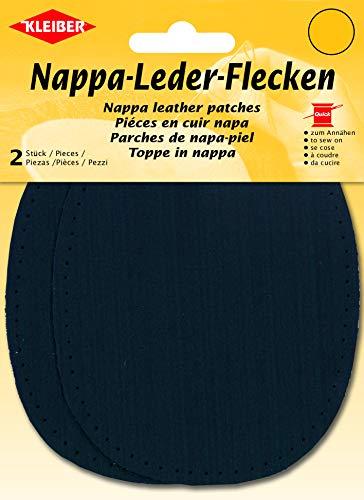 Kleiber Patchs Genoux et Coudes Cuir Nappa à Coudre 12.5 cm x 10 cm, Bleu foncé, 2 par Pack