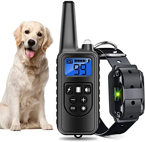 SZDLYYDS Antibell Halsband Hund Automatisch Wasserdicht Einstellbar Vibrationshalsband für 3 bis 63 kg kleine mittelgroße und große HundeA