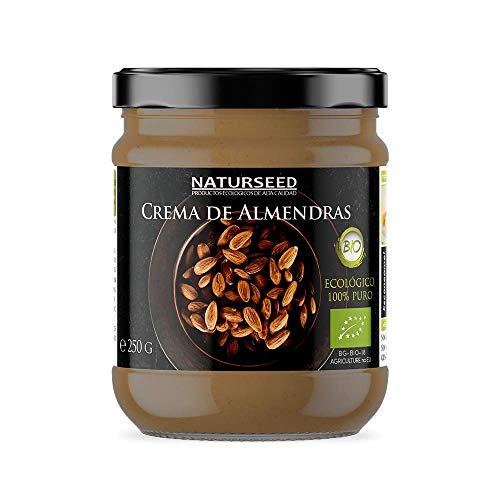 Crema de Almendras Integral 100% Natural Bio - Tostadas - Sin Azucar - Sin Gluten - Sin Lactosa - Ecologica Organica - Buena digestión (250GR)