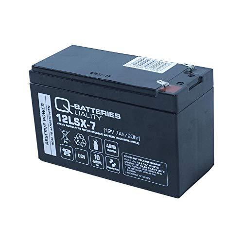 Q-Batteries 12LSX-7 12V 7Ah lood-vlies-accu/AGM 10 jaar