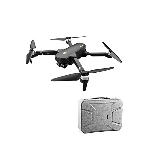 ZhaoZC Two-Axis Gimbal Aerial Drone 6k Hd Folding Quadcopter Remote Control Aircraft Toy, Altitude Hold Headless Mode,Black,Box Package
