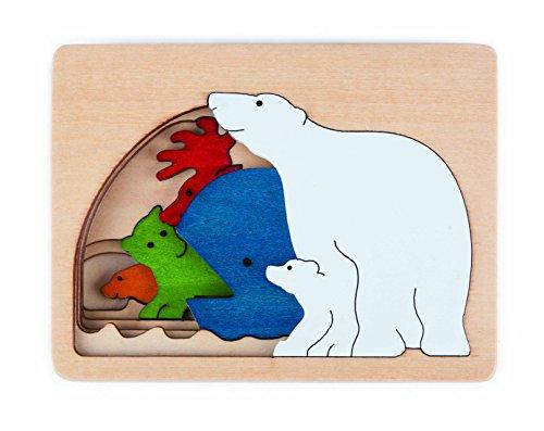 Hape–e6517–George Luck–Puzzle–Polar–6Piezas