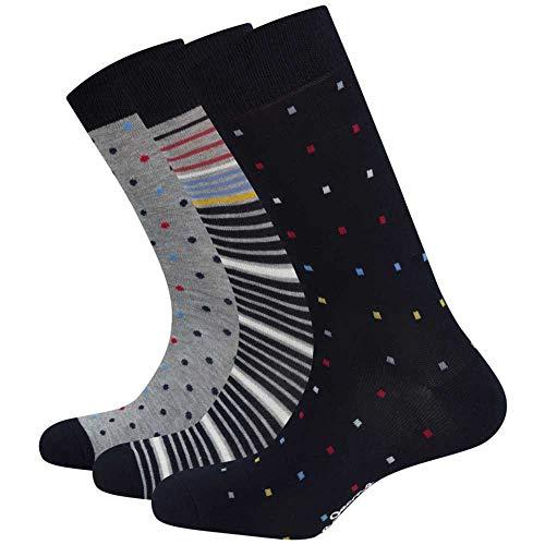 Pepe Jeans Pack Socken Dennis Mehrfarbig Herren, Mehrfarbig 43