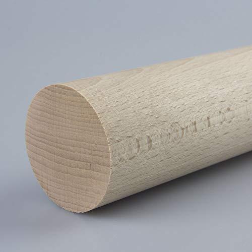Rundstab Bastelstab Bastelleiste Holzstab aus Buche-Massivholz Ø 50 mm 1000 mm