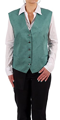 Jobeline Damen Kellner Weste Marmor, Gastronomie, Service, Bar, Farbe:grün;Deutsche Größe:52