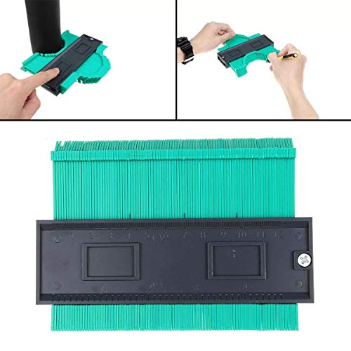 SDY-SDY Woodworking kit Shape Duplicator Profile Gauge Green Tiling Laminate Woodworking Edge Shaping Tool 120mm durable
