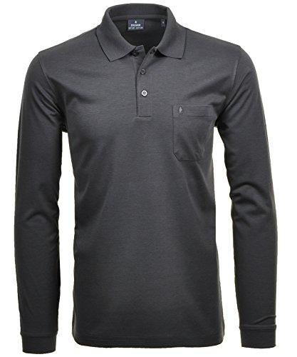 Ragman Herren-Poloshirt, Anthrazit, XL