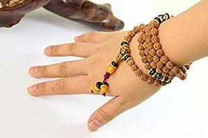 Vottle tibetischen Buddhismus 108 Vajra Bodhi Dzi Gebetskette Mala Halskette 7mm