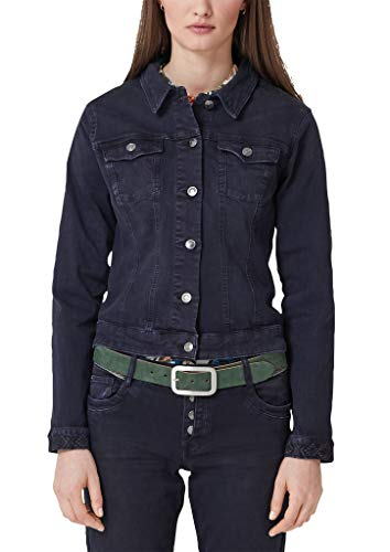 s.Oliver RED LABEL Damen Denim-Jacke mit Stitching-Details navy denim stretch 36