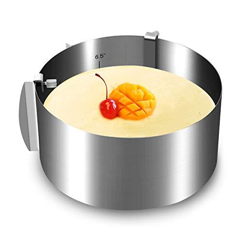 Cake Mold Ring Screw Locking Design, 6 To 12 Inch Cake Mousse Molding Ring, Zalava Adjustable Cake Baking Rings Stainless Steel Cake Mold For Cake Decor
