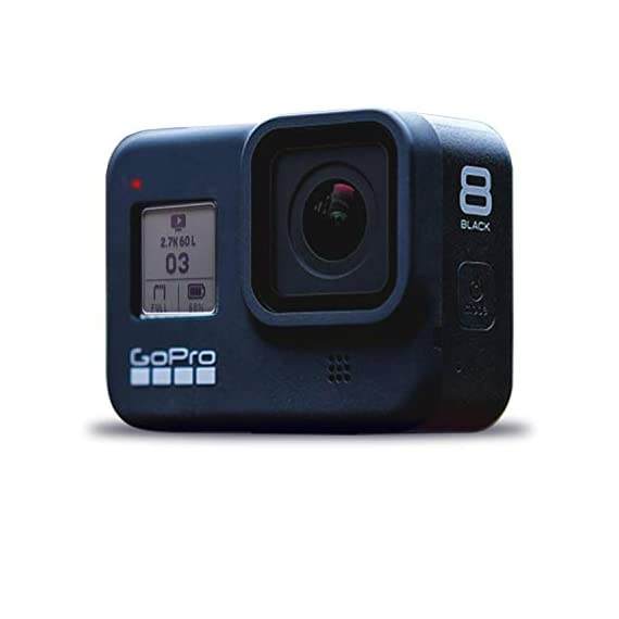 Gopro hero8 black digital action camera - waterproof, touch screen, 4k uhd video, 12mp photos, live streaming… 3 1 x gopro hero8 black | 1 x 50 in 1 go pro accessory kit | 1 x microfiber cloth up to uhd 4k video, slow motion - hypersmooth 2. 0 video stabilization - timewarp 2. 0 stabilized time-lapse video - superphoto 12mp stills with hdr support waterproof to 33' without a housing - direct live streaming to facebook live