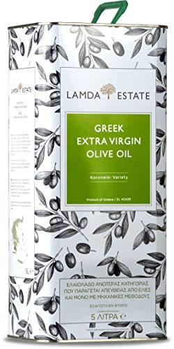 Lamda Estate | Griechisches Olivenöl 5 liter Kaltgepresst, nativ extra | Premium aus Koroneiki-Oliven