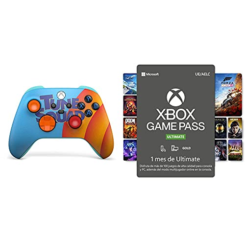 Microsoft Xbox – Mando inalámbrico Space Jam [Amazon Exclusive] + Suscripción Xbox Game Pass Ultimate 1 Mes | Xbox/Win 10 PC Código de descarga