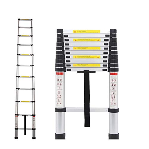 Trintion 10.5Ft/3.2M Telescopic Ladder Portable Aluminium Extension Ladders...