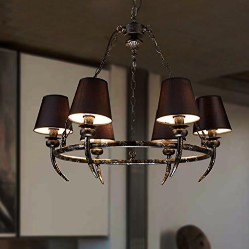 Gute Kronleuchter Amerikanische minimalistische Wohnzimmer-Lampen Esszimmer der Schlafzimmer sechs schmiedeeiserne Kronleuchter Retro-Nostalgie-Bar Lichter Covers