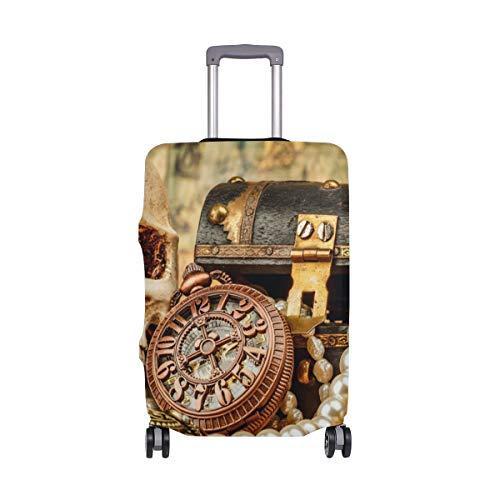 Funda protectora de maleta estilo vintage con diseño de calavera náutica para equipaje de viaje para adultos, mujeres, hombres, adolescentes, para 18 a 20 pulgadas
