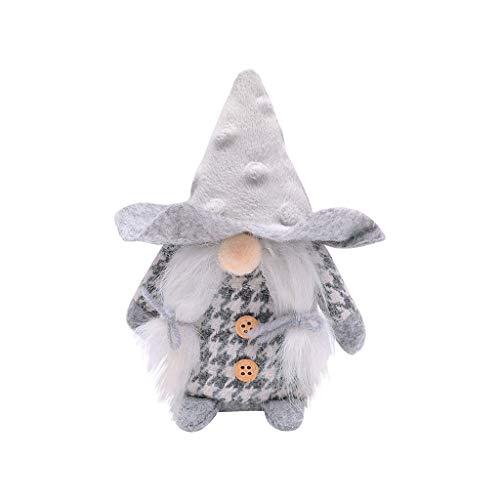 Pstarts Swedish Santa Gnome Plush, Handmade Scandinavian Tomte Nordic Nisse Sockerbit Elf Dwarf Home Household Ornaments, Christmas Santa Decoration