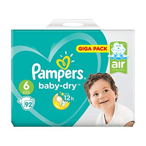 Pampers Baby Dry Giga Pack, Größe 6, 92 Windeln