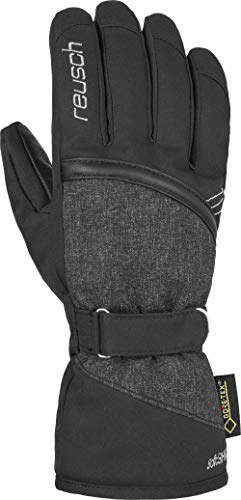 Reusch Damen Alexa GTX Handschuh, Black/Black Melange/Silver, 7