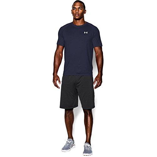 Under Armour Men's Tech Short Sleeve T-Shirt, Midnight Navy/White, X-Large
