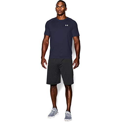 Men's UA Tech™ Shortsleeve T-Shirt Tops by Under Armour (Midnight Navy/white, Large)