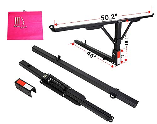 7BLACKSMITHS Folded Truck Bed Hitch Extender Extension Rack Pick Up 2' Hitch Receiver 400lb