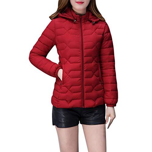 NUSGEAR Daunenjacke Damen Mantel Winter Jacke Ultraleicht Steppjacke Parka Outwear Daunenmantel Coat Warme Steppmantel Kurze Kapuzenjacke mit schmalem Reißverschluss