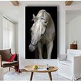 Dekoration Tiere Wandkunst Schwarz Weiß Pferd Poster Print