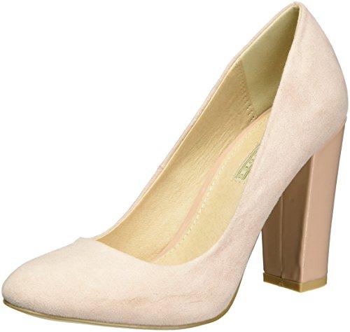 Buffalo Shoes Damen C354A-1 S0024K IMI Suede Pumps, Pink (Pale PINK 01), 38 EU